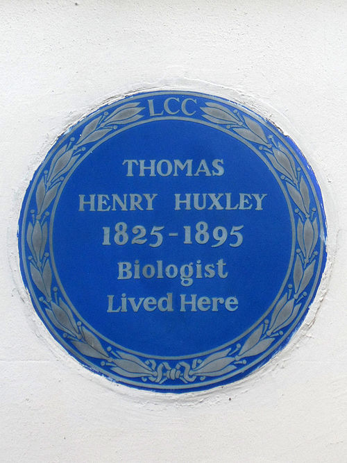 Thomas henry huxley 1825 1895 biologist lived here