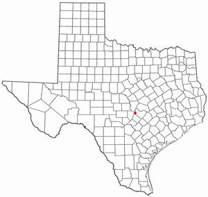 Briarcliff, Texas - Image: TX Map doton Briarcliff