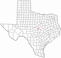 Location of Lometa, Texas