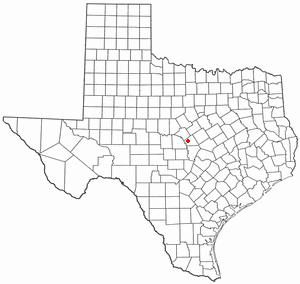 Lometa, Texas - Image: TX Map doton Lometa