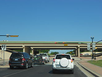 Texas State Highway 114 - SH 114 at an interchange with Dove Road