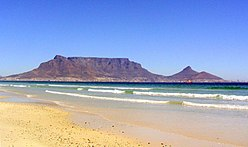 Table mountain and the ocean cape town.JPG