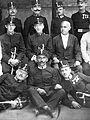 Tableau, men, uniform, sword, military, medal, cop Fortepan 8236.jpg
