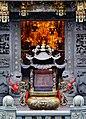 Taipeh Guandu Temple Vorplatz Räucherstäbchenhalter.jpg