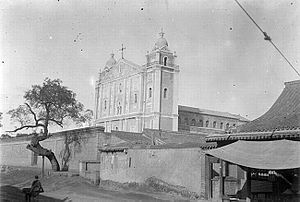 Taiyuan - Taiyuan Cathedral, photographed by Edouard Chavannes in 1907