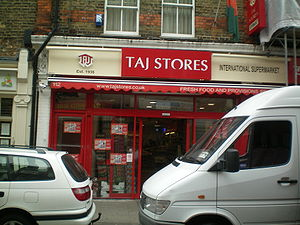 Business of British Bangladeshis - The International, Bangladeshi grocery store, Taj Stores