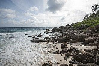 Takamaka, Seychelles - Beach, Anse Cachée, on the southern tip of Mahé.