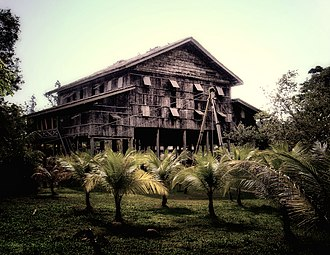 Melanau people -  The traditional Melanau tall house. There are only few left standing in the world.