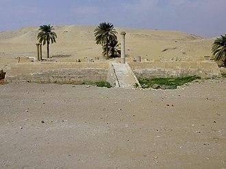 Pyramid of Unas - Valley temple belonging to Unas's pyramid complex