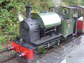 Edward Thomas (locomotive) - Edward Thomas at Abergynolwyn railway station