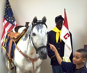 Buffalo Soldiers Display in Tangipahoa African...