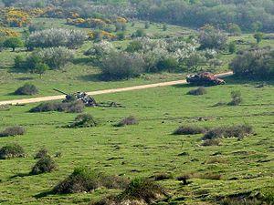Lulworth Ranges - Tank hulks used as targets on the ranges