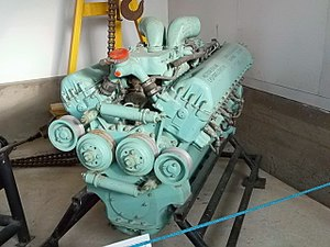 Rolls-Royce Meteor - Finnish Meteor engine, ex-Comet, in eau de nil, at the Parola Tank Museum