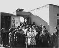 Taos County, New Mexico. Taos County project bookmobile visits Llano San Juan, circulates books, sh . . . - NARA - 521855.tif