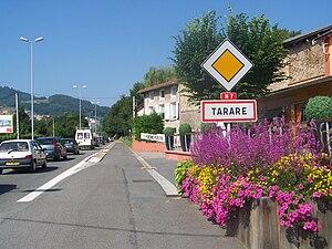 Tarare - The road into Tarare