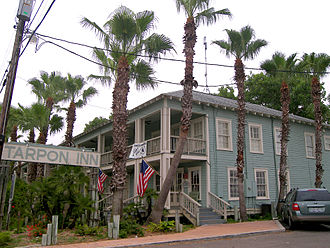 Port Aransas, Texas - The historic Tarpon Inn. The building was added to the National Register of Historic Places on September 14, 1979.