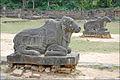 Taureaux Nandin du temple Preah Kô (Angkor) (6967953405).jpg