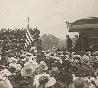 Whistle stop train tour - Image: Teddy Roosevelt at Kansas City, Kansas (15178301101) (cropped)