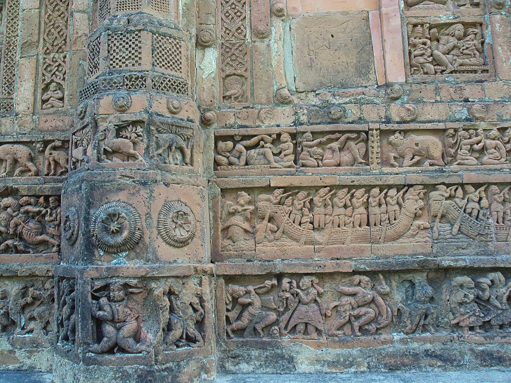 Terracotta work on Jor Bangla temple, Bishnupur 2.JPG