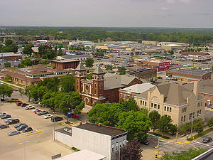 Downtown TerreHaute, looking Southwest, taken ...