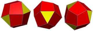 Tetrahedrally diminished dodecahedron polyhedron with 16 faces