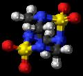 Tetramethylenedisulfotetramine molecule ball.png