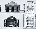 Théâtre des Arts 1791-93 - elevation, section, plans - Mead p50.jpg