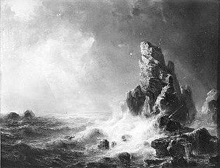 Côte écossaise dans la tempête