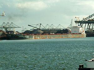 Thalassini Kyra - IMO 9225809, Mississippi harbour, Port of Rotterdam, Holland 29-Apr-2006.jpg