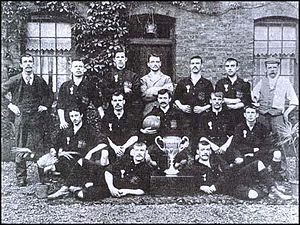Thames Ironworks F.C. - The Ironworks in 1896 with the West Ham Charity Cup.