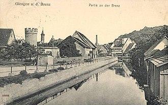 Giengen - The Brenz River at Giengen, circa 1910