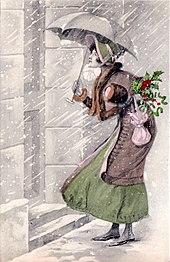 The Christmas Visit Postcard C1910