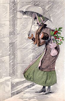 The Christmas Visit. Postcard, c. 1910.jpg
