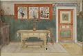 The Dining Room. From A Home (26 watercolours) (Carl Larsson) - Nationalmuseum - 24204.tif