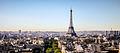 The Eiffel Tower seen from the Arc de Triomphe, Paris August 2013.jpg