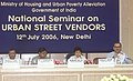 The Minister of State (Independent Charge) for Housing and Urban Poverty Alleviation, Kumari Selja addressing at the inauguration of the National Seminar on Urban Street Vendors, in New Delhi on July 12, 2006.jpg