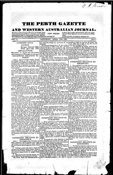 File:The Perth Gazette and Western Australian Journal 1(17).djvu