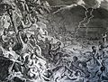 The Phillip Medhurst Picture Torah 53. Noah's Ark and the Deluge. Genesis cap 7 v 12. Hoet.jpg