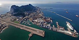 Gibraltar Port Authority - Image: The Port of Gibraltar (Aerial View from the North West)