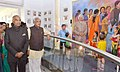 The President, Shri Ram Nath Kovind visiting Dr. APJ Abdul Kalam Memorial, at Rameswaram, in Tamil Nadu on December 23, 2017. The Governor of Tamil Nadu, Shri Banwarilal Purohit is also seen (1).jpg