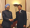The Prime Minister, Dr. Manmohan Singh meeting the Prime Minister of Thailand, Mr. Abhisit Vejjajiva, on the sidelines of 7th India-ASEAN Summit, at Hua Hin, in Thailand, on October 24, 2009.jpg