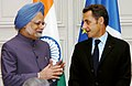 The Prime Minister, Dr. Manmohan Singh with the President of France, Mr. Nicolas Sarkozy, during the signing ceremony, at Elysee Palace, in Paris on September 30, 2008.jpg