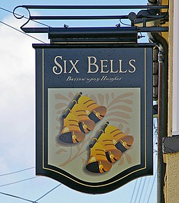 The Sign of the Six Bells - geograph.org.uk - 733475