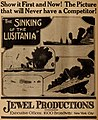 The Sinking of the Lusitania, ad in The Moving Picture Weekly July 27th, 1918, p. 16.jpg
