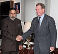 The Swedish Banker and Industrialist, Mr. Marcus Wallenberg meeting the Union Minister for Commerce & Industry, Shri Anand Sharma, in New Delhi on November 14, 2013.jpg