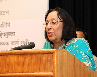 Najma Heptulla Indian politician and the Minister of Minority Affairs in the Government of India