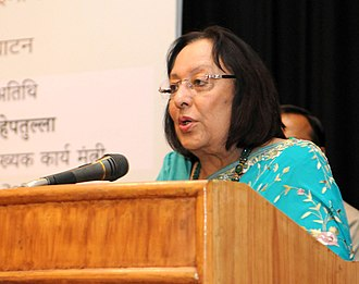 Deputy Chairman of the Rajya Sabha - Image: The Union Minister for Minority Affairs, Dr. Najma A. Heptulla addressing at the inauguration of an exhibition, in New Delhi on March 19, 2016