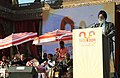 The Union Minister of Youth Affairs and Sports, Dr. M.S. Gill addressing at the 16th National Youth Festival 2011, in Udaipur, Rajasthan on January 12, 2011.jpg