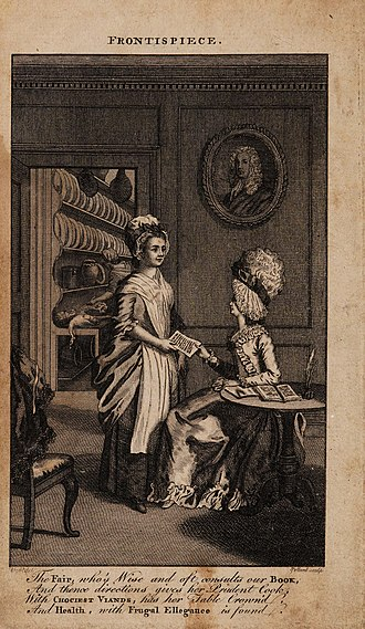 Hannah Glasse - The frontispiece of the 1770 edition of The Art of Cookery Made Plain and Easy