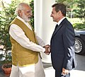 The former President of France, Mr. Nicolas Sarkozy calls on the Prime Minister, Shri Narendra Modi, in New Delhi on April 13, 2016.jpg